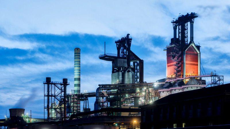 Hochöfen von thyssenkrupp Steel in Duisburg.