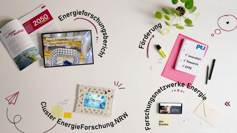 Das Schaufenster Energieforschung stellt Möglichkeiten zur Vernetzung und Ideenfindung vor.