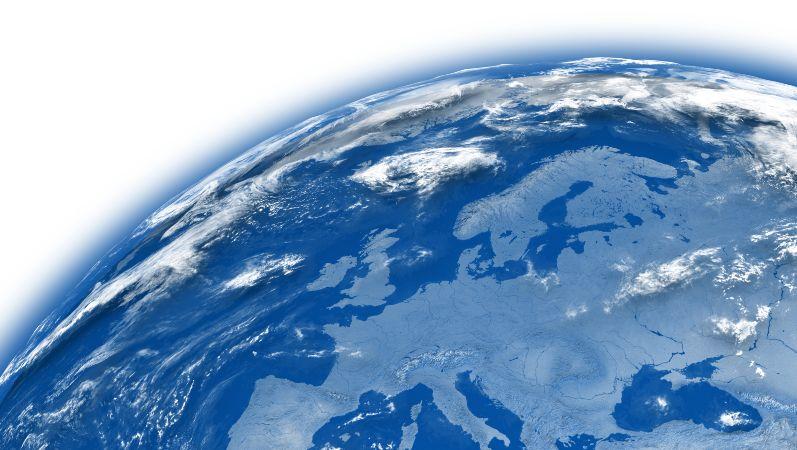 Darstellung des Globus als Symbol für die globalen Herausforderungen einer nachhaltigen Zukunft.
