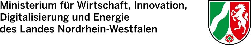 Ministerium für Wirtschaft, Innovation, Digitalisierung und Energie des Landes Nordrhein-Westfalen Logo