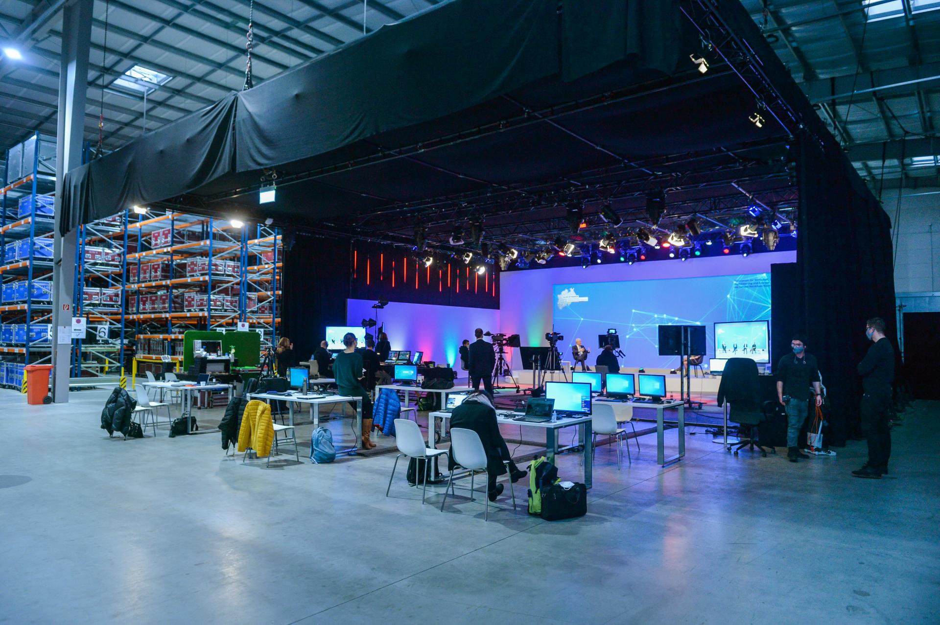 Aufnahmestudio des Energieforschungskongresses 2020