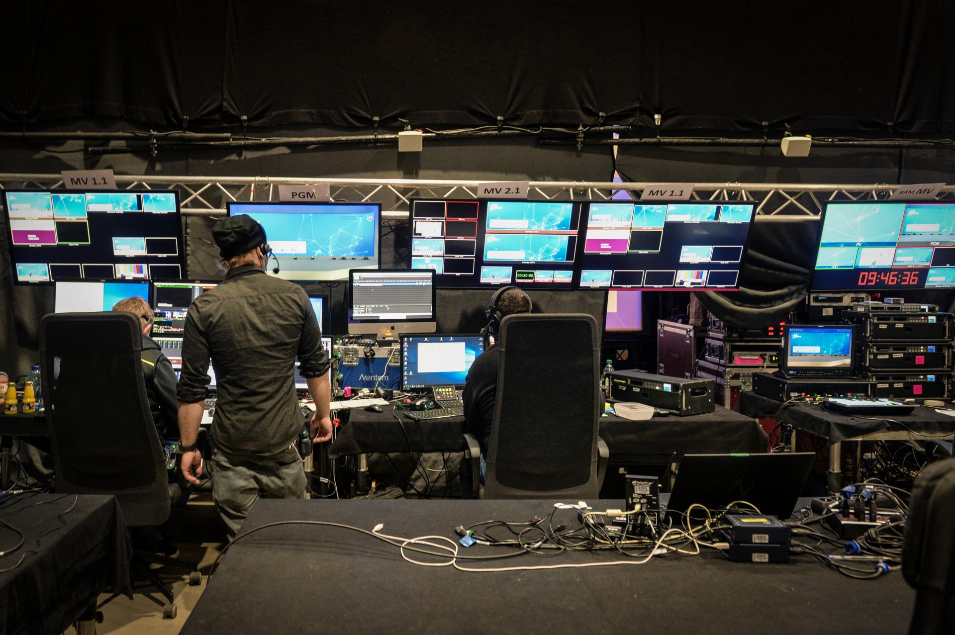 Technik-Raum des Aufnahmestudios