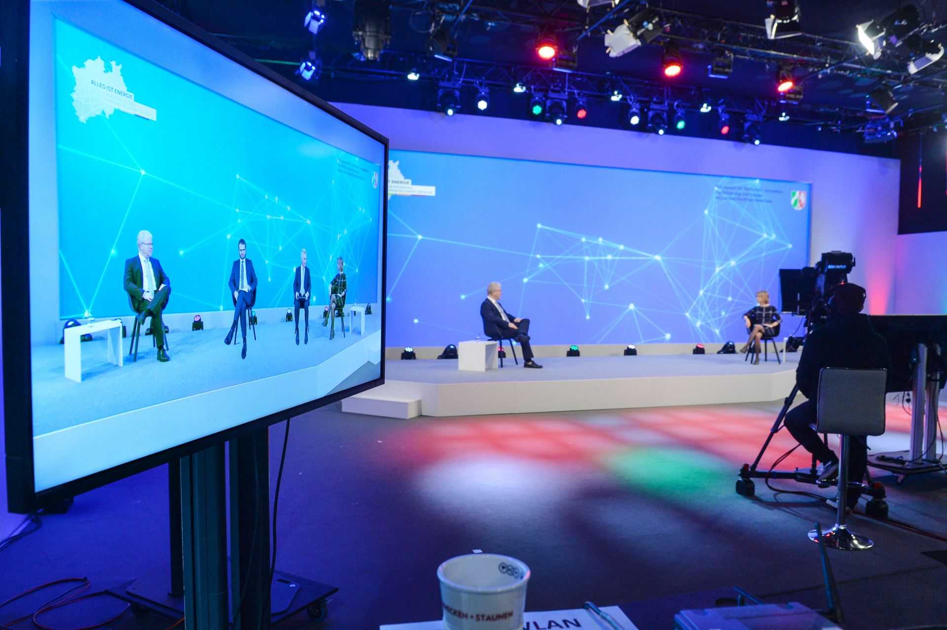 Podiumsdiskussion mit Minister Pinkwart und Staatssekretär Feicht