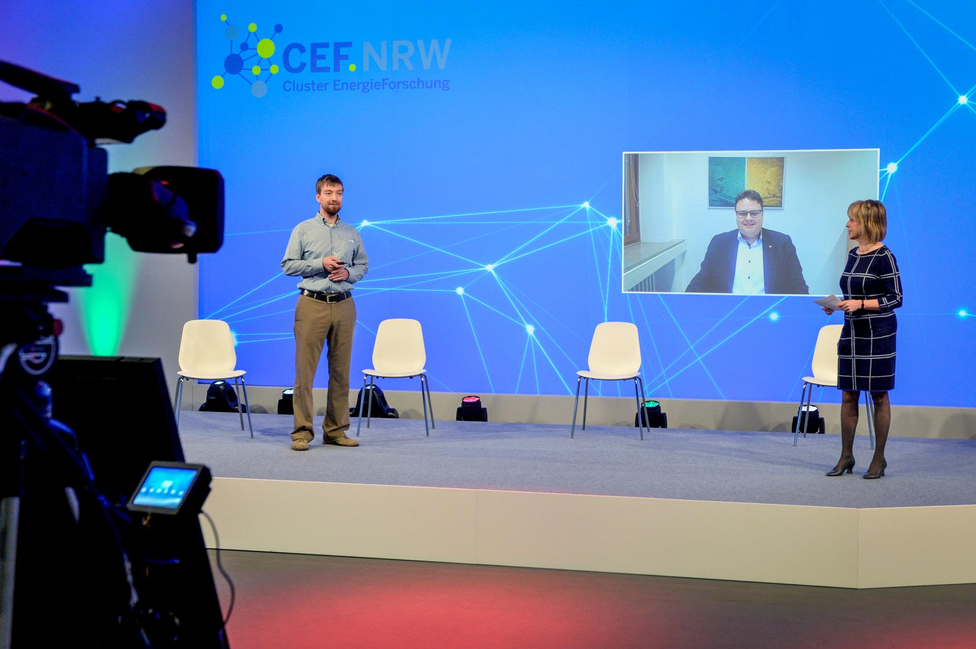 Dr. Andrey Mashkin (Siemens Energy) und Prof. Dr. Stefan Kempen (FH Dortmund) beim Energieforschungskongress 2020